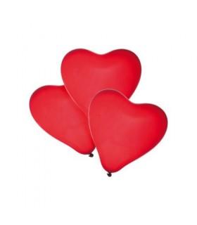 Baloane forma inima rosie 50 buc/set HERLITZ