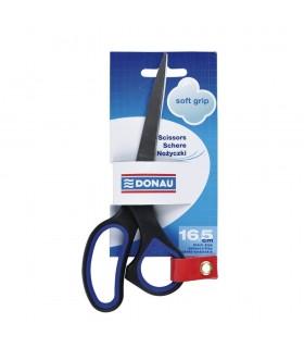 Foarfeca otel, ergonomica, 16.5 cm, cu rubber grip, Soft Grip DONAU