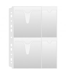 Folie protectie A4, pentru 4 CD/DVD, 160 microni, 25/set, DONAU