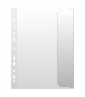 Folie protectie transparenta A4, cu clapa laterala, 100 microni, 10/set, DONAU