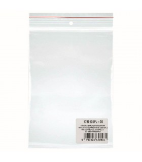 Pungi plastic cu fermoar pentru sigilare, 80 x 120 mm, 40 microni, 100 buc/set, DONAU - transparent