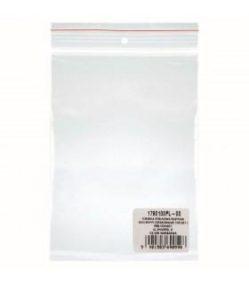 Pungi plastic cu fermoar pentru sigilare, 80 x 180 mm, 40 microni, 100 buc/set, DONAU - transparent