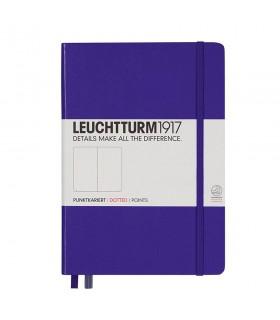Caiet A5, coperta rigida, violet punctat LEUCHTTUTM