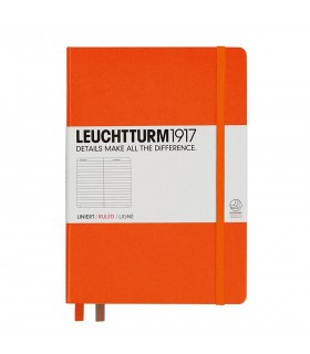 Caiet A5, coperta rigida, dictando portocaliu LEUCHTTURM