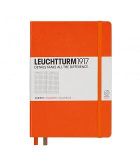 Caiet A5, coperta rigida, matematica portocaliu LEUCHTTURM