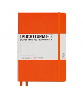 Caiet A5, coperta rigida, portocaliu punctat LEUCHTTURM