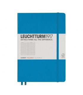 Caiet A5 matematica coperta rigida albastru azur LEUCHTTURM