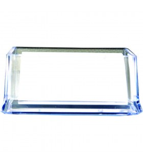 Suport carti de vizita, transparent, plastic, FOSKA