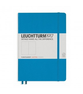 Caiet A5 punctat coperta rigida albastru azur LEUCHTTURM