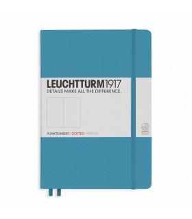 Caiet A5 punctat coperta rigida albastru nordic LEUCHTTURM