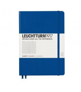 Caiet A5 matematica coperta rigida albastru royal LEUCHTTURM