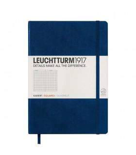 Caiet A5 matematica coperta rigida albastru navy LEUCHTTURM