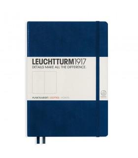 Caiet A5 punctat coperta rigida albastru navy LEUCHTTURM