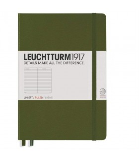 Caiet A5 dictando coperta rigida verde army LEUCHTTURM