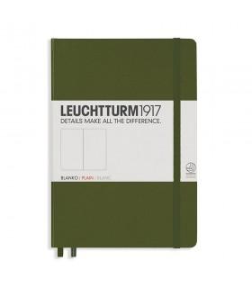 Caiet A5 velin coperta rigida verde army LEUCHTTURM