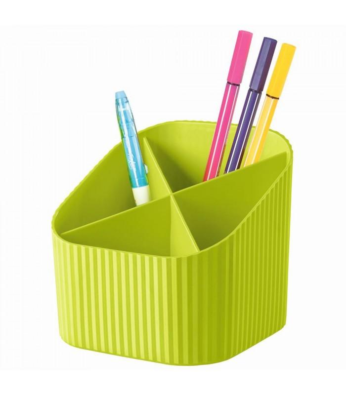 Suport instrumente de scris, 4 compartimente, diverse culori vibrante, HAN X-LOOP