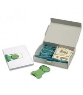 Alonja arhivare de mare capacitate, pentru transfer, eticheta, gri petrol, 100/cutie, JALEMA Clipex