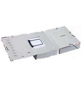 Dosar de mare capacitate extensibil din carton gri JALEMA