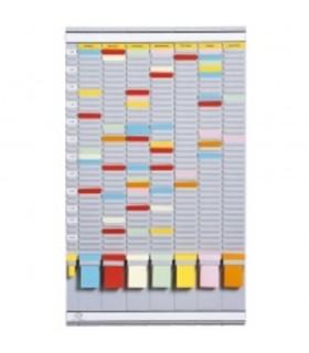Planner saptamanal cu T-cards, 35 de slot-uri, gri deschis, JALEMA