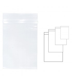 Pungi plastic cu fermoar pentru sigilare, diverse dimensiuni 100 buc/set, KANGARO - transparente