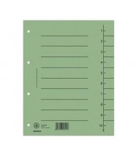 Separatoare carton, 300 x 240 mm, 100 buc/set, color DONAU