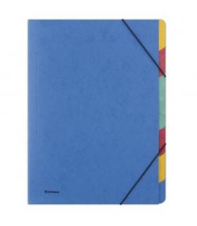 Separatoare carton, A4, cu elastic pe colturi, 7 culori/set, DONAU