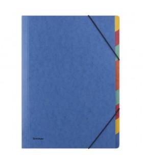 Separatoare carton, A4, cu elastic pe colturi, 9 culori/set, DONAU