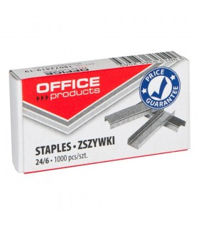 Capse 24/6, 1000 buc/cutie OFFICE PRODUCTS