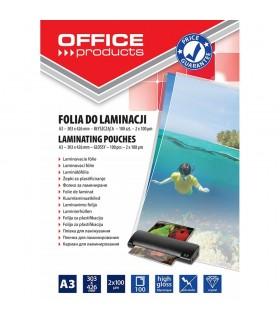 Folie pentru laminare A3 100 microni 100 buc/top OFFICE PRODUCTS
