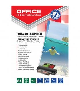Folie pentru laminare, A3 125 microni, OFFICE PRODUCTS