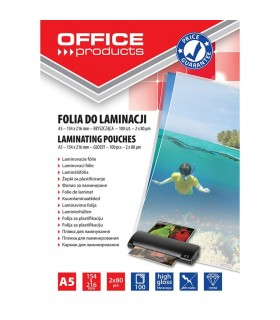 Folie pentru laminare A5, 80 microni 100 buc/top OFFICE PRODUCTS