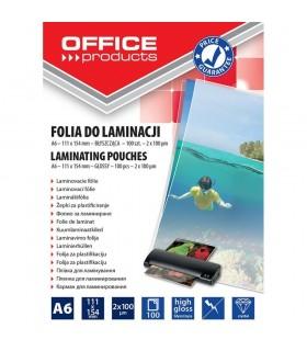 Folie pentru laminare A6 100 microni 100 buc/set OFFICE PRODUCTS