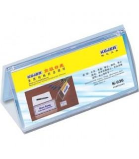 Display nume pentru birou, din plastic flexibil, forma A, 100 x 220mm, KEJEA - transparent
