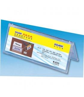 Display nume pentru birou, transparent, 72 x 200 mm, KEJEA