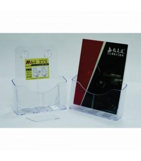 Display plastic pentru brosuri, de birou/perete, 1 x A4-portrait, KEJEA - transparent
