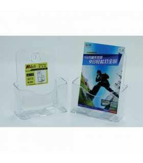 Display plastic pentru brosuri, de birou/perete, 1 x A5, KEJEA - transparent