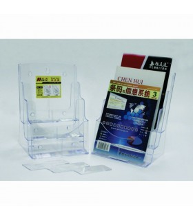 Display plastic pentru pliante 3 x A4-portrait transparent KEJEA