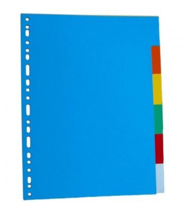 Separatoare carton, A4, 24 culori/set, OPTIMA