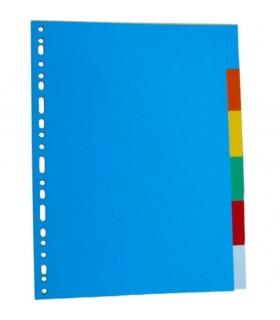 Separatoare carton, A4, 5 culori/set, OPTIMA