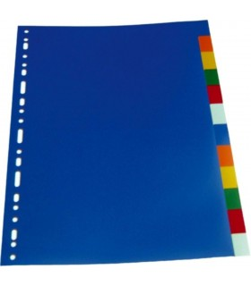 Separatoare plastic A4, 120 microni, 12 culori/set, OPTIMA