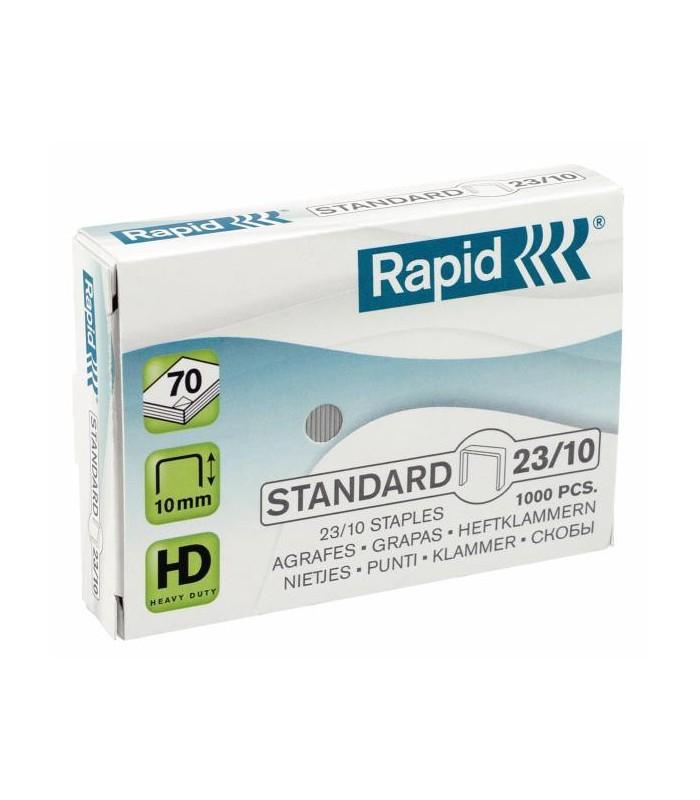 Capse pentru 40-70 coli, 1000 buc/cutie, model Standard 23/10 RAPID