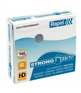 Capse pentru 40-70 coli, 1000 buc/cutie, model Strong 23/10 RAPID