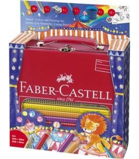 Set cadou desen si pictura jumbo grip 18 culori/set Circus FABER-CASTELL
