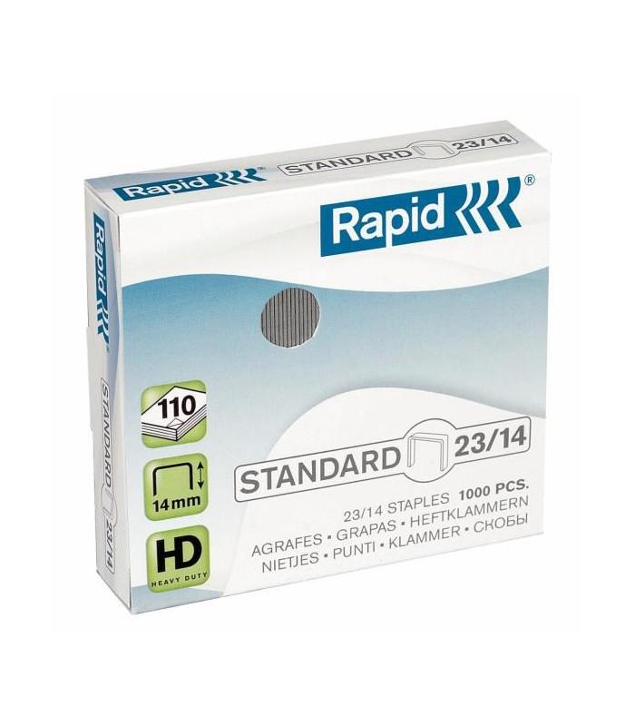 Capse pentru 80-110 coli, 1000 buc/cutie, model Standard 23/14 RAPID