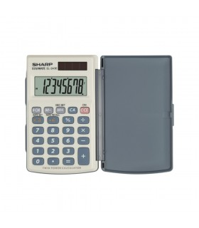 Calculator de buzunar, 8 digiti, EL-243EB, 105 x 64 x 11 mm, gri, SHARP