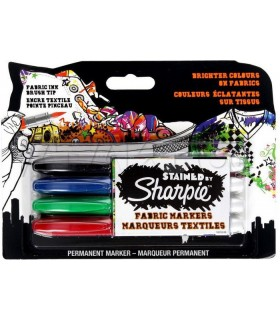 Marker permanent pentru textile 4/set Stained by SHARPIE