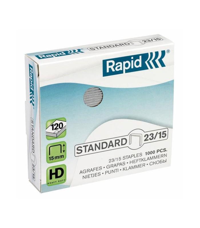 Capse pentru 80-120 coli, 1000 buc/cutie, model Standard 23/15 RAPID