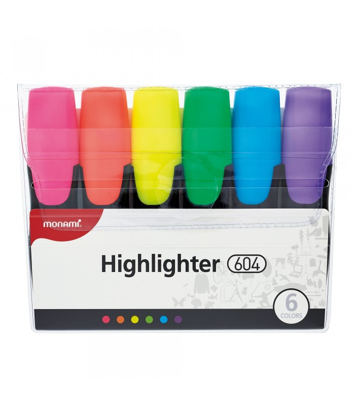 Textmarker set 6 culori, varf tesit 1.0 - 6.0 mm MONAMI