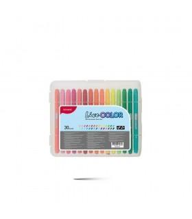 Set liner + carioca 30 culori, varf 0.6 mm si 1.2 mm Live Color MONAMI