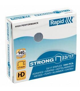 Capse pentru 110-140 coli, 1000 buc/cutie, model Strong 23/17 RAPID